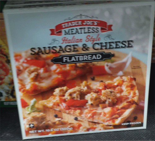 Trader Joe's Meatless Sausage and Cheese Flatbread