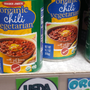 Trader Joe's Organic Vegetarian Chili