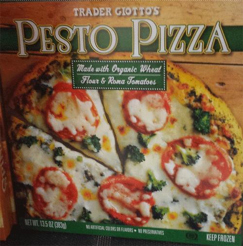 Trader Joe's Pesto Pizza