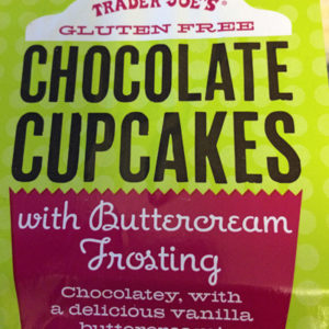 Trader Joe's Gluten-Free Chocolate Cupcakes with Buttercream Frosting