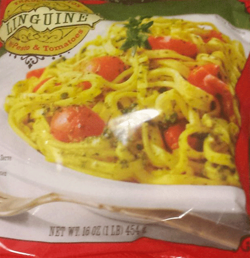 Trader Joe's Linguine with Pesto and Tomatoes