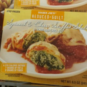 Trader Joe's Spinach & Cheese Stuffed Shells with Marinara Sauce