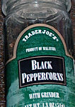 Trader Joe's Black Peppercorn Grinder