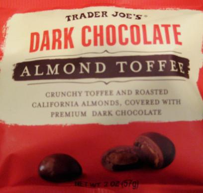 Trader Joe's Dark Chocolate Almond Toffee