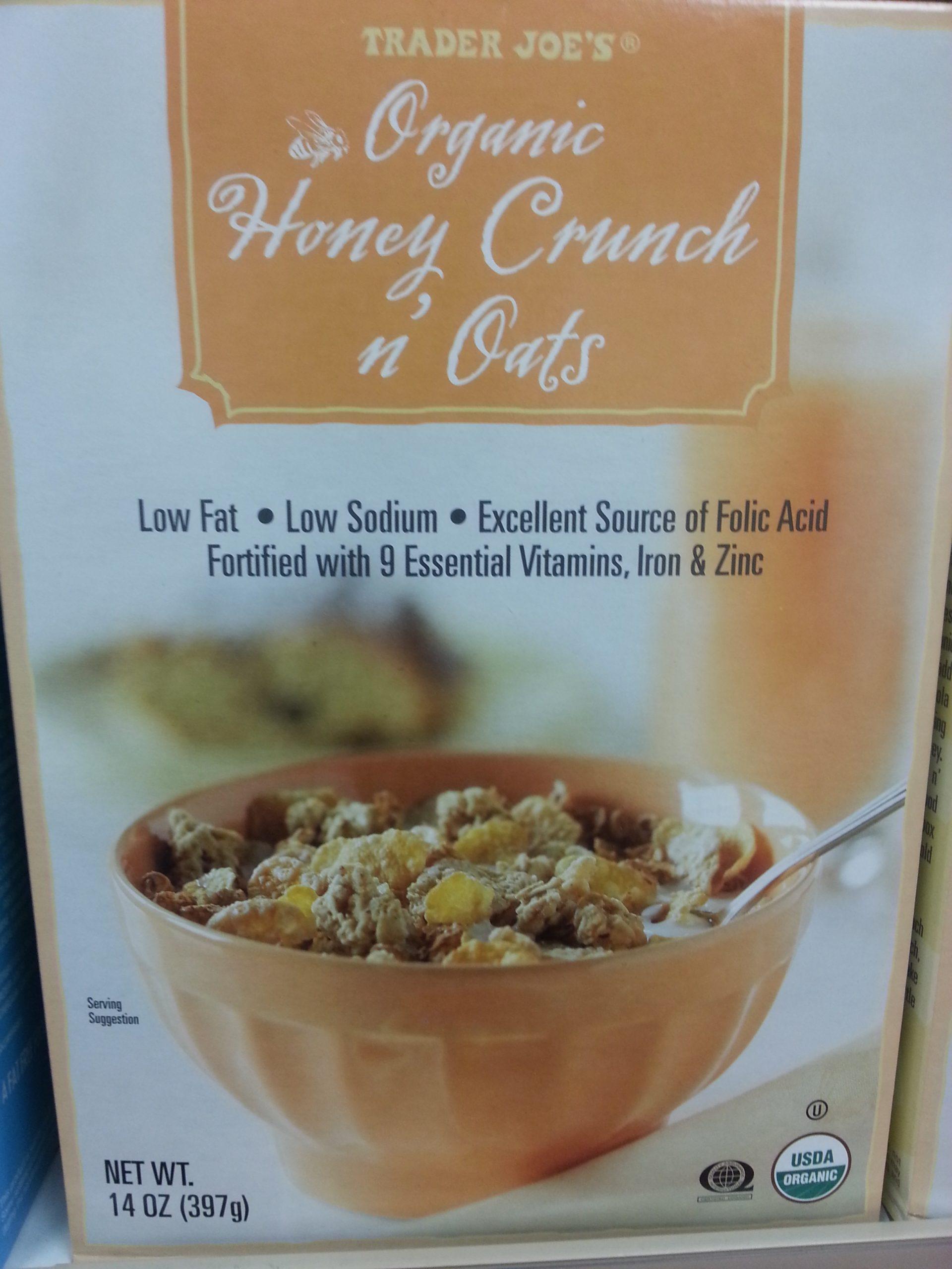 Trader Joe's Organic Honey Crunch n' Oats Reviews