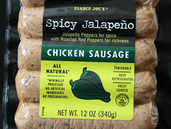 Trader Joe's Spicy Jalapeño Chicken Sausage