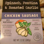 Trader Joe's Spinach Fontina Garlic Chicken Sausage