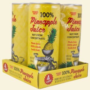 Trader Joe's 100% Pineapple Juice Cans
