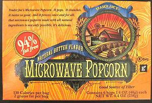 Trader Joe's 94% Fat Free Microwave Popcorn