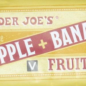 Trader Joe's Apple Banana Fruit Bar