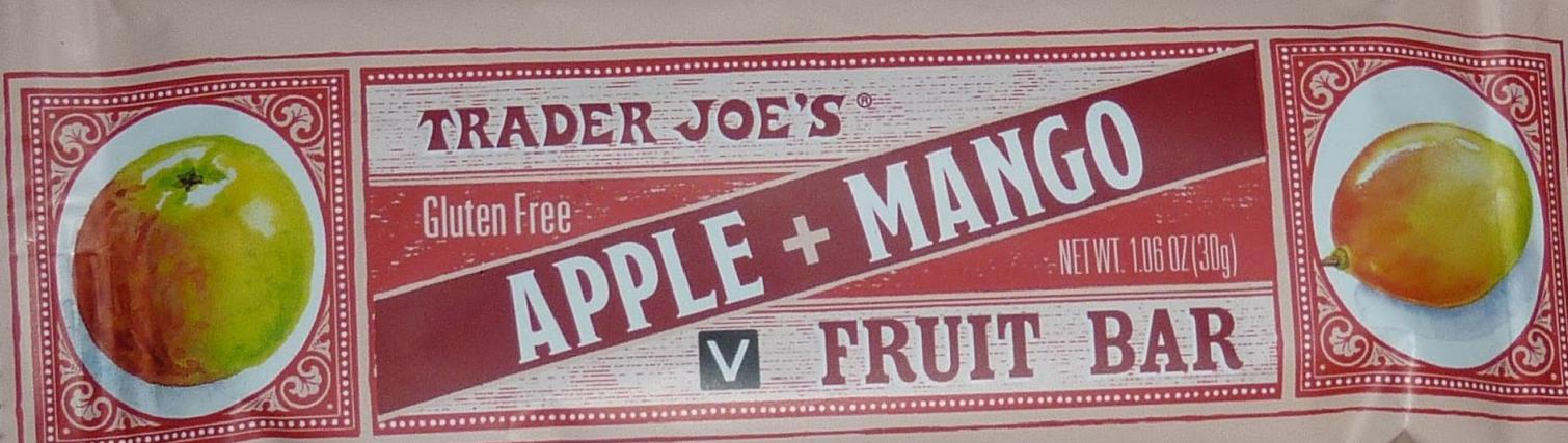Trader Joe's Apple Mango Fruit Bar