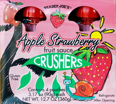 Trader Joe's Apple Strawberry Fruit Sauce Crushers