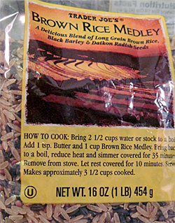 Trader Joe's Brown Rice Medley