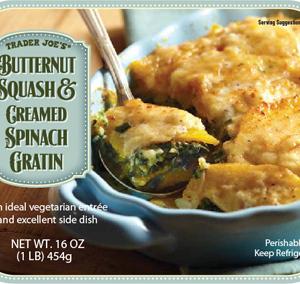 Trader Joe's Butternut Squash & Creamed Spinach Gratin