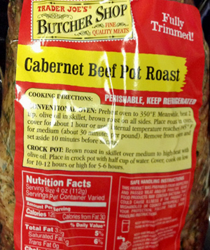 Trader Joe's Cabernet Beef Pot Roast