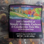 Trader Joe's Just a Handful of Simply Almonds, Cashews & Cranberries Trek Mix