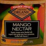 Trader Joe's Mango Nectar
