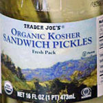 Trader Joe's Organic Kosher Sandwich Pickles