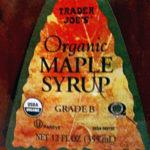 Trader Joe's Organic Grade B Maple Syrup