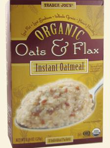 Trader Joe's Organic Oats & Flax Instant Oatmeal