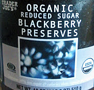 Trader Joe's Organic Reduced Sugar Blackberry Preserves