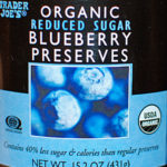 Trader Joe's Organic Reduced Sugar Blueberry Preserves