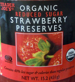 Trader Joe's Organic Reduced Sugar Strawberry Preserves ...