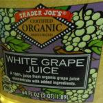 Trader Joe's Organic White Grape Juice