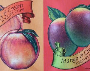 Trader Joe's Mango & Cream/Peaches & Cream Yogurt Cups