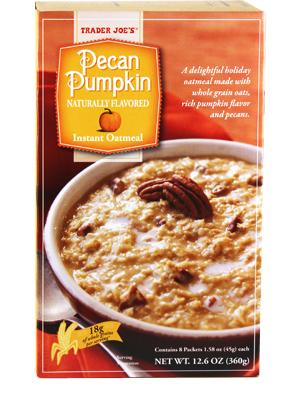 Trader Joe's Pecan Pumpkin Instant Oatmeal