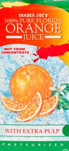 Trader Joe's 100% Pure Florida Orange Juice With Extra Pulp