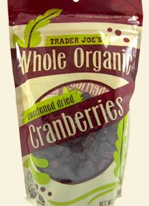 Trader Joe's Whole Organic Dried Cranberries