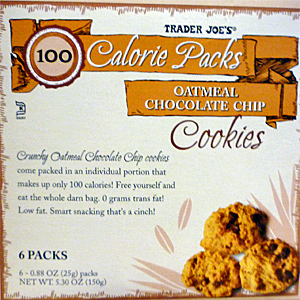 Trader Joe's 100-Calorie Oatmeal Chocolate Chip Cookies