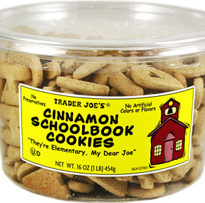 Trader Joe's Cinnamon Schoolbook Cookies