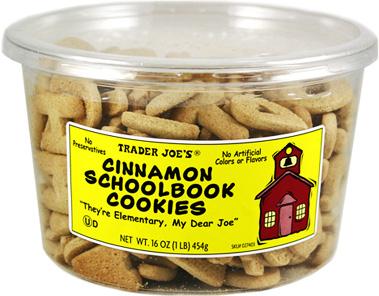 Trader Joe's Cinnamon Schoolbook Cookies