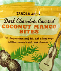 Trader Joe's Dark Chocolate Coconut Mango Bites