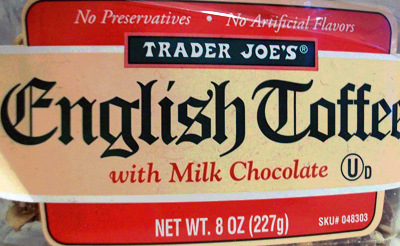 Trader Joe's English Toffee With Milk Chocolate