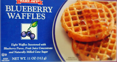 Trader Joe's Blueberry Waffles