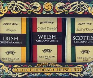 Trader Joe's Celtic Cheddar Cheese Trio