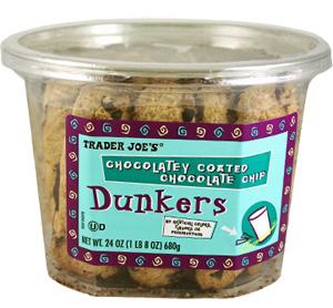 Trader Joe's Chocolatey Coated Chocolate Chip Dunkers