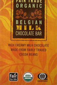 Trader Joe's Fair Trade Organic Belgian Milk Chocolate Bar