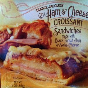 Trader Joe's Ham & Cheese Croissant Sandwiches