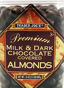 Trader Joe's Milk & Dark Chocolate Covered Almonds