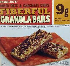 Trader Joe's Chocolate Chip Fiberful Granola Bars