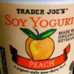 Trader Joe's Peach Soy Yogurt