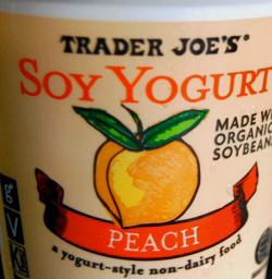 Trader Joe's Peach Soy Yogurt