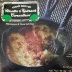 Trader Joe's Ricotta & Spinach Cannelloni