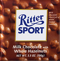 Trader Joe's Ritter Sport Milk Chocolate with Hazelnut