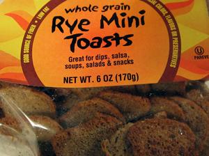 Trader Joe's Rye Mini Toasts
