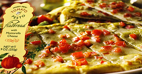 Trader Joe's Tomato & Pesto Flatbread Pizza